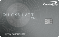 Capital One® QuicksilverOne® Cash Rewards Credit Card Application