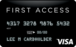 First Access Visa® Solid Black Credit Card Application